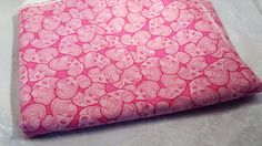 Barbie Pink on Pink Graphic Fabric 5 Yards Uncut Continuous by RemnantReservoir…