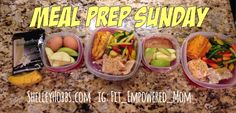 Meal Prep Sunday! I am prepared for 3 days this week. I need more food containers. You can find my 21 day fix meal plan to help you plan and prep your meals!