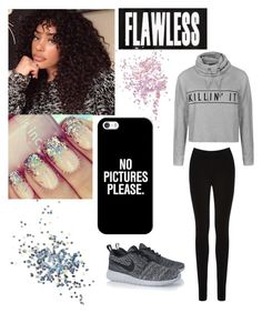 """""""Ik this gonna sound alot like"""" by minniieminii on Polyvore featuring Oasis, NIKE, Topshop, Casetify and Ally Fashion"""