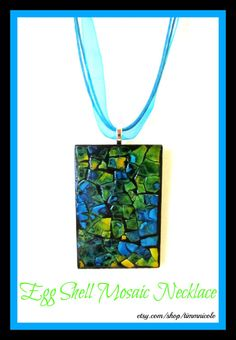Eggshell Mosaic Necklace by TimmNicole on Etsy, $8.00