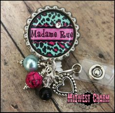 cheetah..Personalized retractable badge reel by midwestcharmAH, $16.25