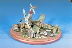 Scrap Metal - a 1/48 Scale Luftwaffe Diorama by Charles Pritchett (Tamiya 1/48)