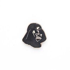 Star Wars Darth Vader Wooden Brooch. wood pin badge  Galactic
