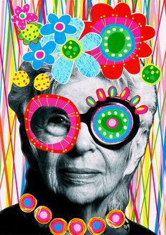 Sketchbook Collage Art Using Gift Wrap Iris Apfel