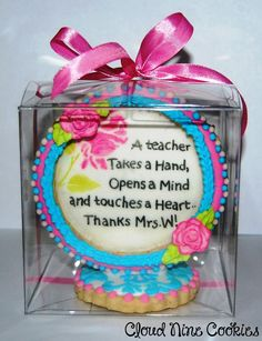 Teacher Appreciation Cookie | Cookie Connection Teachers' Day, Cookie Ideas, Teacher Appreciation, Gift Baskets, Bouquets, Connection, Corner, Birthday Cake, Thankful