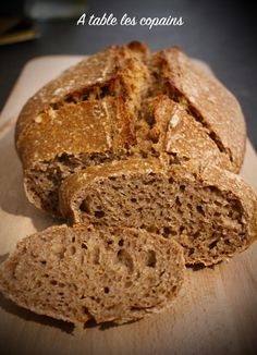 Yummy World, Pain Au Levain, Actifry, Fish And Chips, Bakery, Gluten, Cooking Recipes, Bread, Healthy