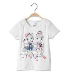 Girls t-shirt - collection C&A Kids Girls Tops, Girls Tees, Shirts For Girls, Toddler Girl Outfits, Kids Outfits, Cute Girl Illustration, Miss Girl, Girl Trends, Design Girl