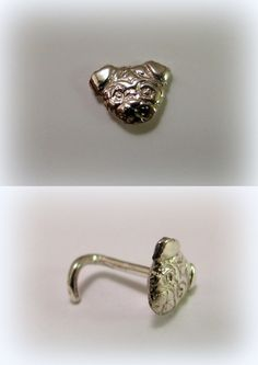Silver nose piercing by Minicsiga on Etsy