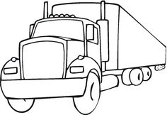trucks coloring pages | truck coloring pages 7
