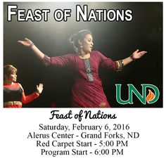 Enjoy the Feast of Nations at The Alerus Center, 1200 South 42nd Street, Grand Forks ND (scheduled via http://www.tailwindapp.com?utm_source=pinterest&utm_medium=twpin&utm_content=post27806578&utm_campaign=scheduler_attribution)