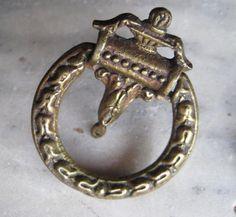 1 Pair Ornate Vintage 1930 Brass Drawer Pulls by StarPower99, $9.99