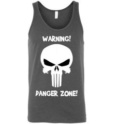 Warning Danger Zone Skull Tank Top Body Building Tips, Skull Tank Tops, Danger Zone, Custom Made, Athletic Tank Tops, Bodybuilding, Sleeves, Cotton, Women