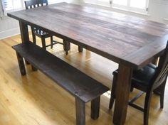 reclaimed pine farm table $1300