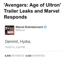 Avengers: Age of Ultron Trailer Leaks and Marvel Responds | Marvel Entertainment | Dammit, Hydra