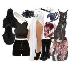 'Fairy Tail' Character by ironraven281 on Polyvore featuring polyvore fashion style River Island Gestuz clothing
