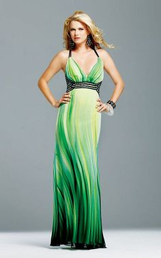 black and green prom dress