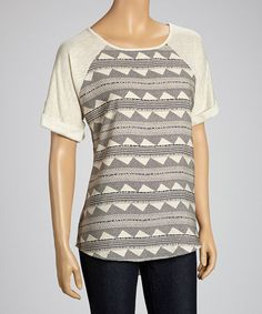 Take a look at this Beige Roll-Tab Raglan by Faith and Joy on #zulily today! $15 !!