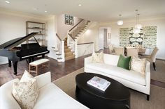 Michael Harris Homes: Symphony Park, paint my stairs like this to tone down all the wood!