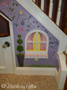 Under the stairs playroom, Kids reading nook Mural https://www.facebook.com/media/set/?set=a.603400089695533.1073741865.232332846802261&type=3