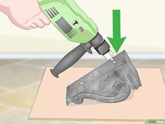 How to Hang Corbels: 12 Steps (with Pictures) - wikiHow Tuscan Decorating, Interior Decorating, Decorating Ideas, Decor Ideas, Farmhouse Furniture, Farmhouse Decor, Home Decor Kitchen, Diy Home Decor, Used Power Tools