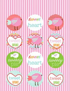 free valentine party circle printables