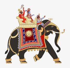 Vector illustration of a decorated indian elephant Poster Photo Elephant, Indian Elephant Art, Elephant Poster, Elephant Images, Elephant India, Elephant Elephant, Art And Illustration, Elephant Illustration, Madhubani Art