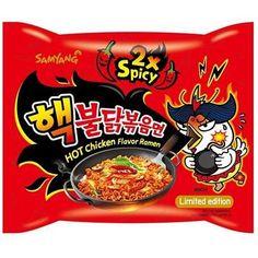 NineChef Samyang Ramen Spicy Chicken Roasted Noodles Extra Spicy Flavor (Pack of Samyang Ramen, Ramen Noodles, Fried Ramen, Sauce For Chicken, Chicken Flavors, Black Noodles, Korean Fire Noodles, Spicy, Snack Recipes