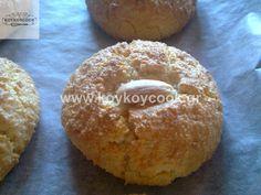 Greek Desserts, Greek Recipes, Food Menu, Cake Cookies, Bagel, Cookie Recipes, Muffin, Bread, Vegan