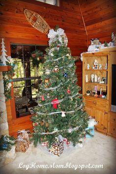 Log Cabin Tree Christmas Makes Me Feel Emotional