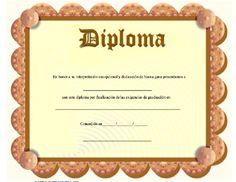 Diploma para imprimir los certificados, gratis para descargar e imprimirswww