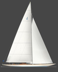 The classic lines of a J Class Yacht, with a mast height of 170ft to the waterline!