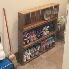 smile03さんの、玄関/入り口,DIY,靴箱DIY,ドライフラワーアジサイ,のお部屋写真