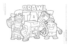30 Best BRAWL STARS COLORING PAGES images | Star coloring ...