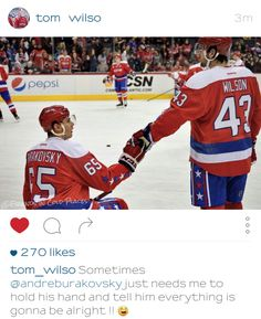 Andre Burakovsky and Tom Wilson