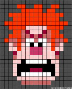 Wreck-it Ralph perler bead pattern