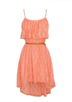 Strappy Lace Hi/Lo Dress
