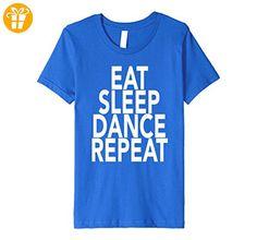 Eat Sleep Dance Repeat T-Shirt Gift For Dancer Dancing Class Kinder, Größe 128 Königsblau (*Partner-Link)