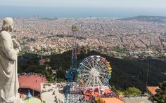 Top of Tibidabo / Barcelona! Italy Honeymoon, Best Cities, Fair Grounds, Wanderlust, Europe, City, World, Places, Summer