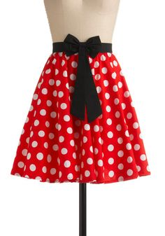 This skirt is so Minnie Mouse, how can it not make you smile?