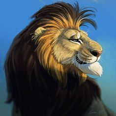 When you look in the mirror and your hair is purrfect!  #lions #greathair #nicehair / Aaron Blaise