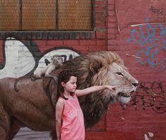 Les Peintures hyperréalistes d'Enfants et d'Animaux de Kevin Peterson (9)