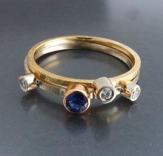 BIZOE komplet dwóch złotych pierścionków http://www.gemstudio.pl/pl/c/Kolekcja-BIZOE/62