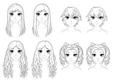 How to Draw Anime Hair - iDevie how to draw - Drawing Tips How To Draw Anime Hair, Anime Boy Hair, Manga Hair, Anime Guys, Draw Hair, Disney Drawings, Cartoon Drawings, Easy Drawings, Pencil Drawings