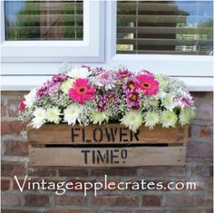 It should always be flower time, these sweet items have heart handles on either side and can be used indoor our out with an option for us to stencil your desired wording. A great idea we heard from a florist for a really rustic look is to fill the small gap with moss all the way around then fill with seasonal plants or flowers. £15.00 Home Projects, Projects To Try, Apple Crates, Flower Boxes, All The Way, Beautiful Gardens, Upcycle, Wedding Flowers, Floral Wreath