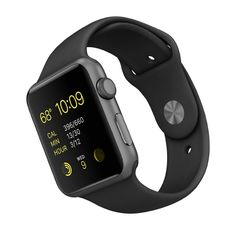 New Apple Watch Series 1 Smartwatch (Space Gray Aluminum Case, Black Sport Band) Sport Band with stainless steel pin Digital CrownGorgeous anodised aluminium case Ion-X glassHeart rate sensor, accelerometer and gyroscope Apple Watch 42mm, Neue Apple Watch, Smart Watch Apple, Apple Watch Series 2, Apple Smartwatch, Leica, Unique 50th Birthday Gifts, Birthday Crafts, 80th Birthday