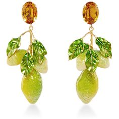 Dolce & Gabbana Crystal Clip-On Lemon Earrings (2,185 AED) ❤ liked on Polyvore featuring jewelry, earrings, earring jewelry, dolce gabbana earrings, swarovski crystal earrings, crystal charms and crystal jewelry