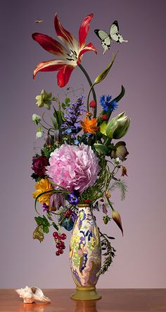 (Dutch, born 1974)  'the sweet Spring in wintertime' Photographic Floral Still Lifes by Bas Meeuws  Bas Meeuws is a young and passionate photographer. Since 2010, he has dedicated himself to rejuvenating the traditional and very Dutch genre of f...