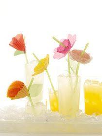 Decorated Straw #cute #flower #diy