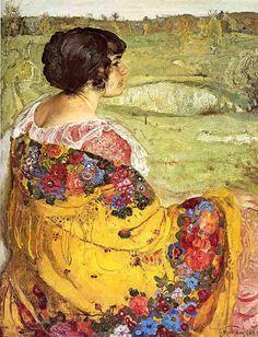 Исаак Бродский - Портрет Любови Макаровны Бродской, жены художника (536x700, 230Kb)