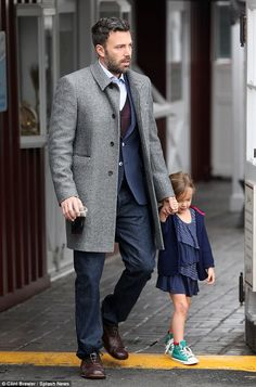 Doting father Ben Affleck...meow.